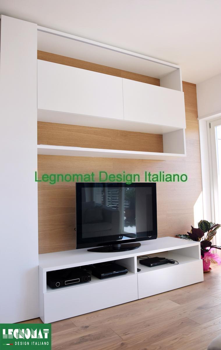 Pareti Attrezzate su Misura Roma - Legnomat Design Italiano  